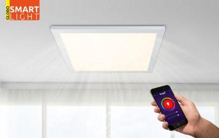 Immagine di ROSI LED 18W - 3000*4200*6000K - 30*30*4,5 CM - QUADRATA - SMART LIGHT O TELECOMANDO