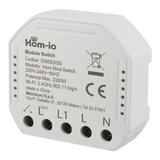 Immagine di Modulo Switch da incasso 10A 1 Canale WiFi Hom-io