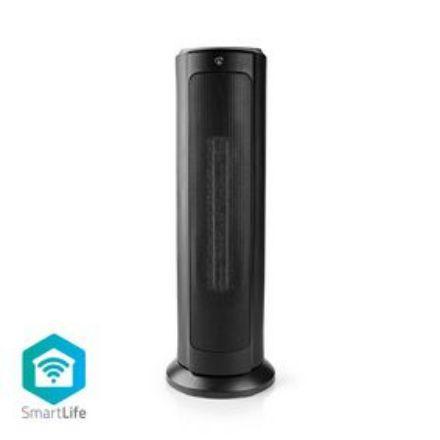 Immagine di SmartLife Riscaldamento a Convezione  Wi-Fi | Adatto per il bagno | Pannello di vetro | 2000 W | 2 Impostazioni di Calore | Display LED | 15 - 35 °C | Termostato regolabile | Bianco