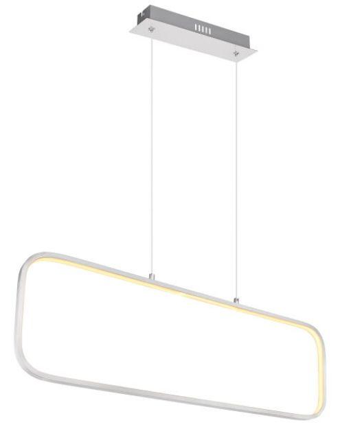 Immagine di MODELLO SILLA LED SOSPENSIONE - 24W 3000K 80*26.5*120 - COLOR ALLUMINIO